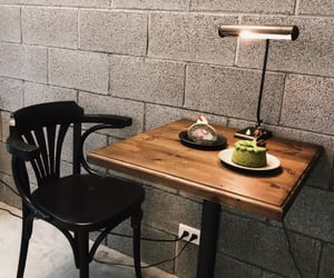 brown, cafe, and cake image