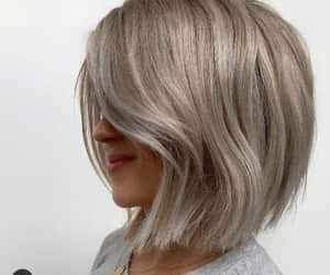 short hair cut and ashy hair color image