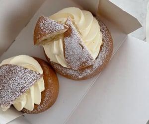cream, dessert, and food image