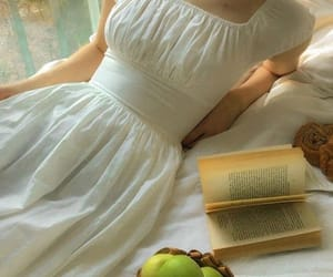 aesthetic, book, and apples image