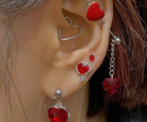piercing, heart, and jewelry image