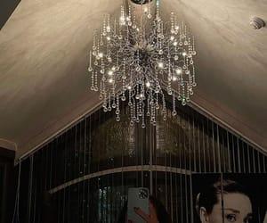 art, audrey hepburn, and chandelier image