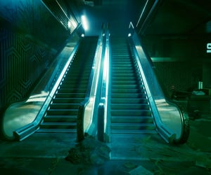 abandoned, closed, and escalator image