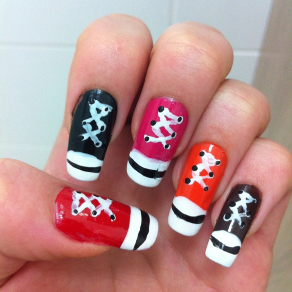 Nails All Star Nailsnail Art On We Heart It