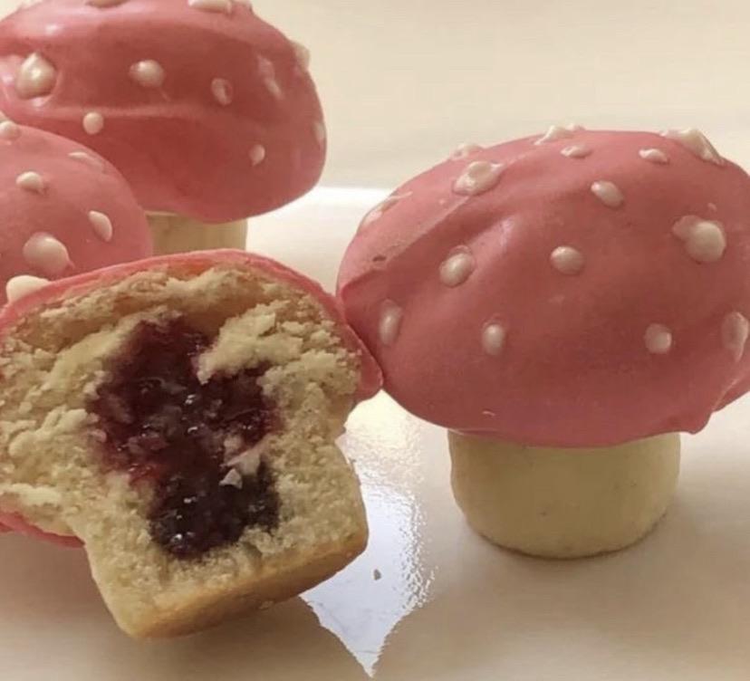 cake, food, and mushroom image