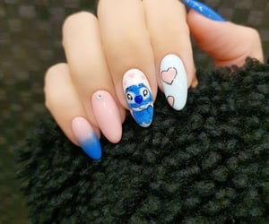 art, blue nails, and nail art image