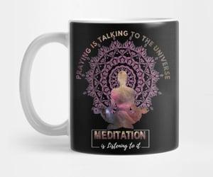 yoga, teepublic, and mandala image