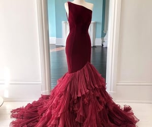 dress, dresses, and red dress image