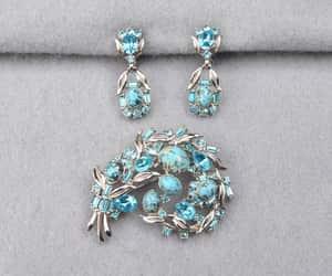 etsy, designer jewelry, and rhodium plated image