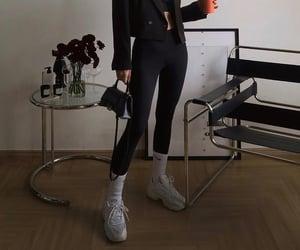 Balenciaga, black leggings, and everyday look image