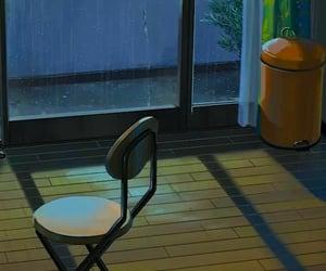 illustration, night, and rain image