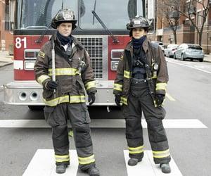 chicago fire, jesse spencer, and miranda rae mayo image