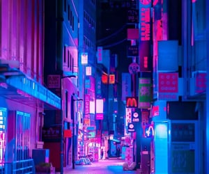 asia, city, and cyberpunk image