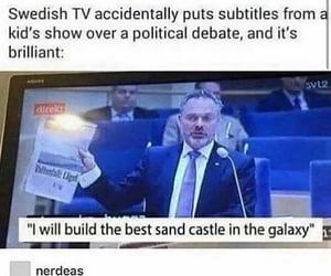 debate, subtitles, and tv image