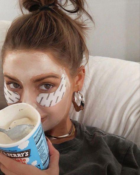 girl, ice cream, and aesthetic image