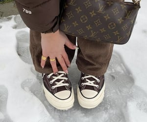 street style and louis vuitton bag image