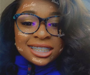braces, girls, and glasses image