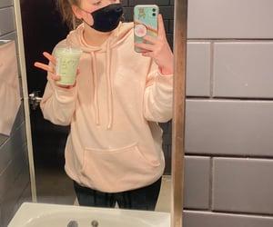 aesthetic, mirror, and bathroom image