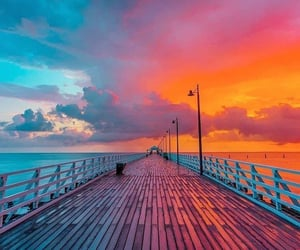 sunset, colors, and nature image