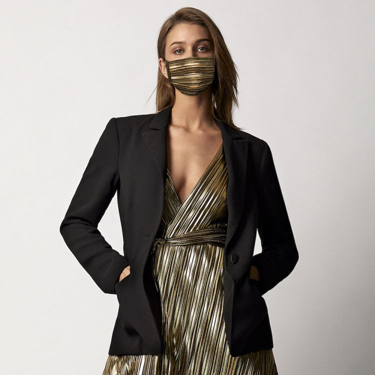 blazer, fashion, and mask image