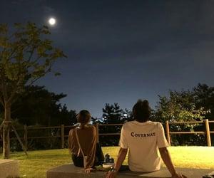 couple, girl, and night image