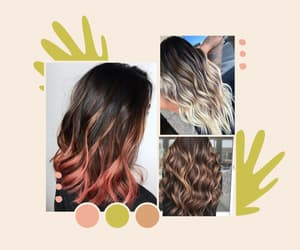 layered hair and ombre hair image