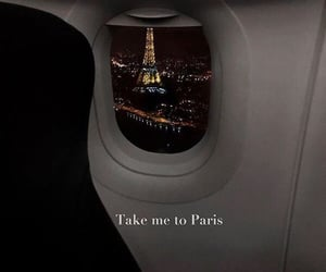 paris, travel, and flight image