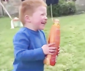 funny video, laughing, and funny kids image