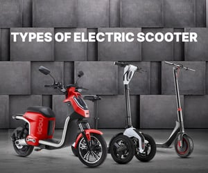 electric mopeds, fat tire electric scooter, and electric kick scooters image