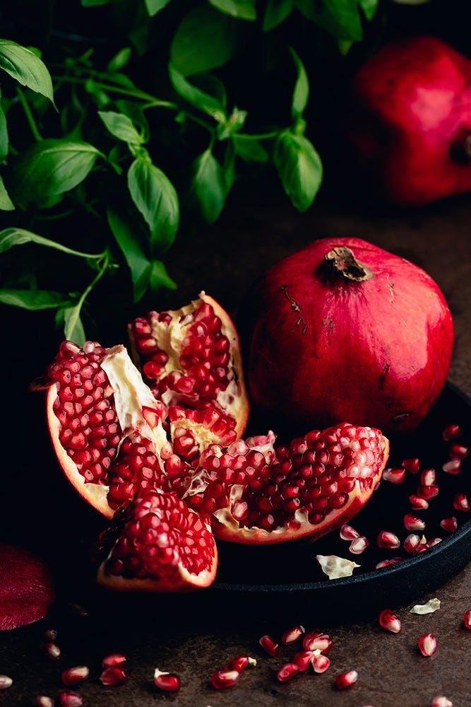fruit and pomegranate image