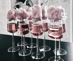 champagne, girl, and pink image