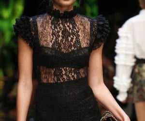 black dress, D&G, and Couture image