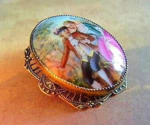 etsy, hand painted brooch, and czech porcelain image
