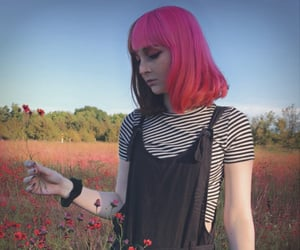 goth girl, pink, and égirl image