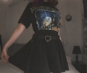 alt girl, grunge, and goth fashion image