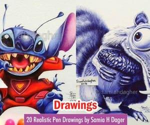 art, pen drawings, and color pencil drawings image