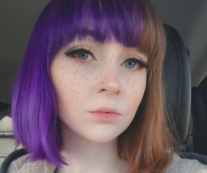 purple hair, alt girl, and grunge image