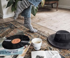 books, cozy, and hat image