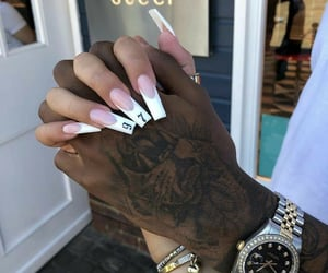 couple, nails, and love image