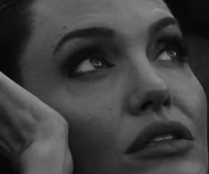 Angelina Jolie, b&w, and Vouge image