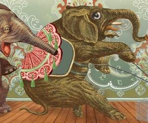 cartoons, comic art, and elephants image