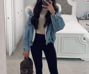 fall, jacket, and leggins image
