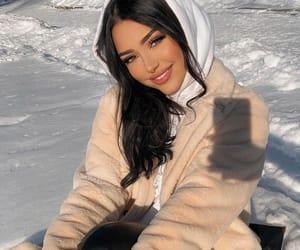 blush, eyes, and winter season image