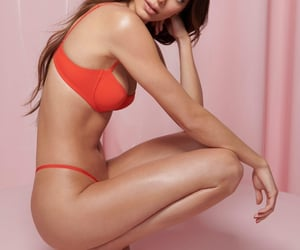 hot body, model, and red image