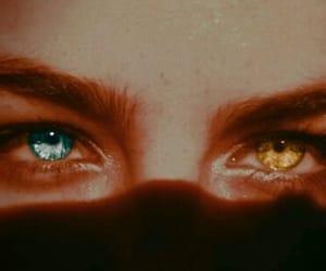 eye, girl, and heterochromia image