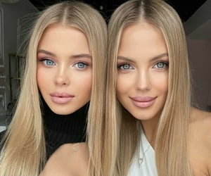blonde, beauties, and girls image