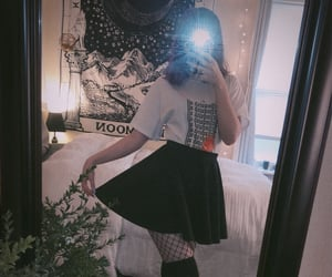 aesthetic, fishnets, and thigh highs image