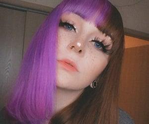alt girl, aesthetic, and eyelashes image