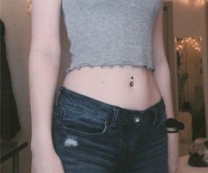 aesthetic, skinny, and belly button image