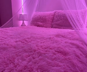 pink, bedroom, and aesthetic image
